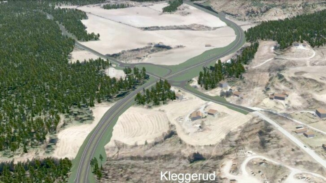 Entreprenøren som tildeles oppdraget for ny E16 mellom Åsbygda og Olum skal blant annet prosjektere og bygge nytt kryss mellom E16 og fv. 241 ved Kleggerud.