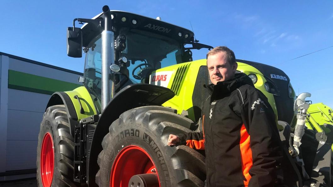 Daglig leder Trond Widar Løyning i Traktor og Maskin AS. Selskapet er ny forhandler av Claas i Agder.
