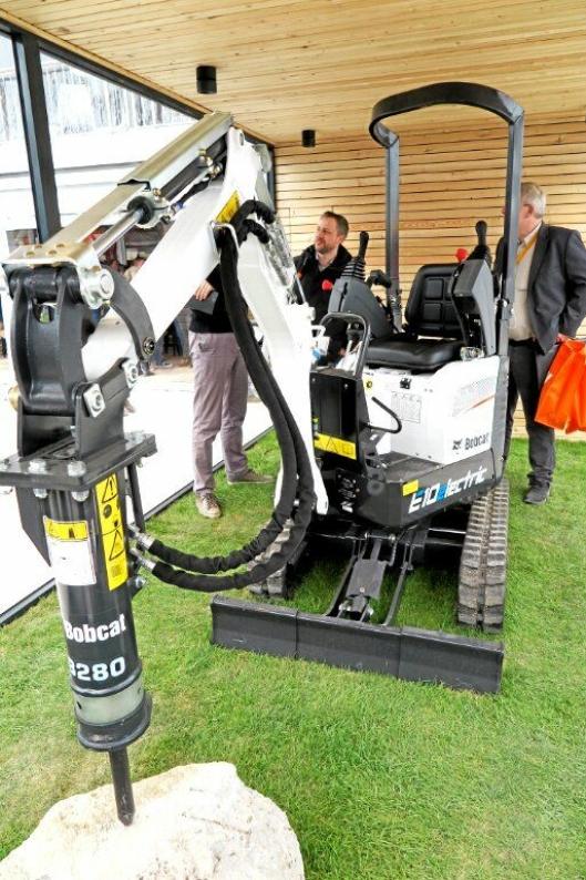 BOBCAT: Minigraveren E10e er nå klar for produksjonsstart, med leveringer senere i år.