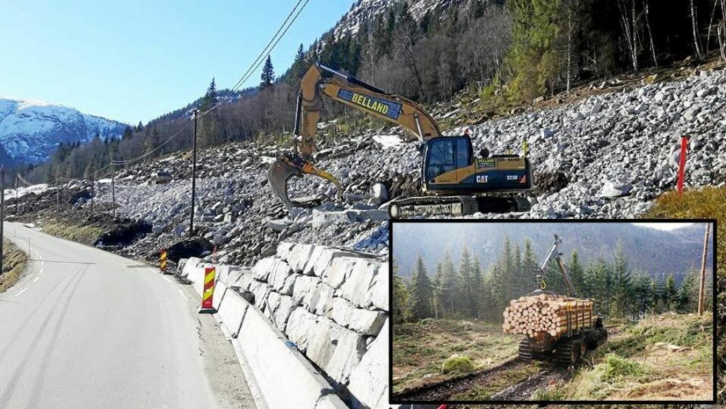 AltiSkog har kjøpt Belland Graving, speisalist i muring av natursteinmurer.Foto: Belland og AltiSkog