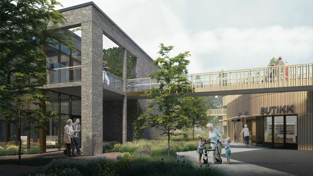 Strømmehaven på Strømme i Kristiansand skal stå ferdig høsten 2020 og utformes som seks bokollektiv.