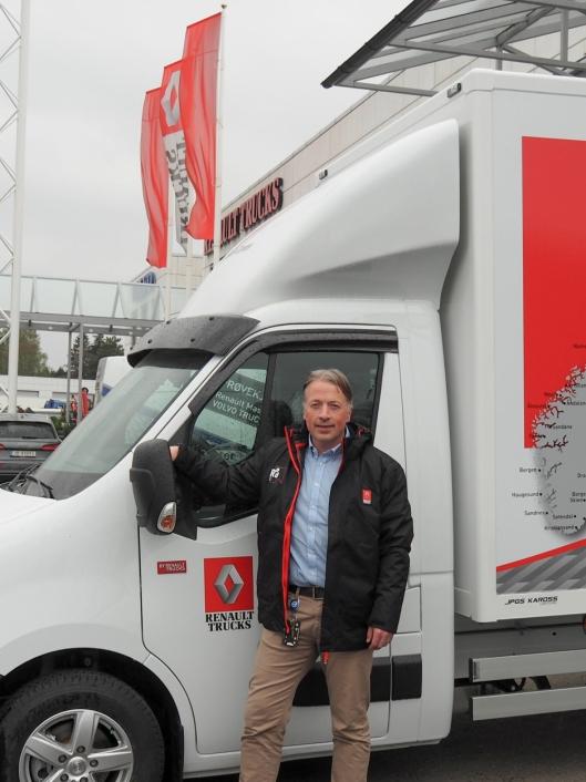 Viggo Noreng, salgsdirektør i Renault Trucks Norge, har store forventninger til nye Renault Master.