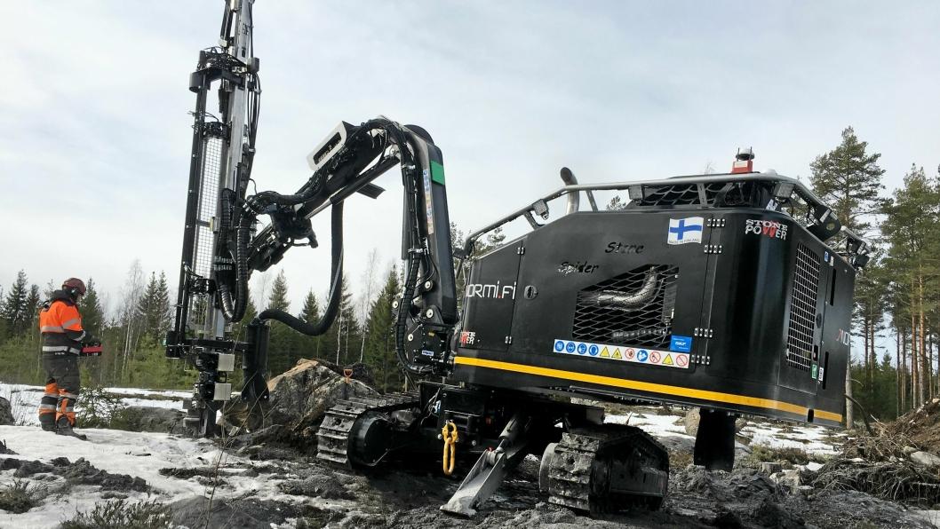 NYTT FELT: Andersen Mekaniske Verksted AS (AMV) blir forhandler for Stonepower borerigger.