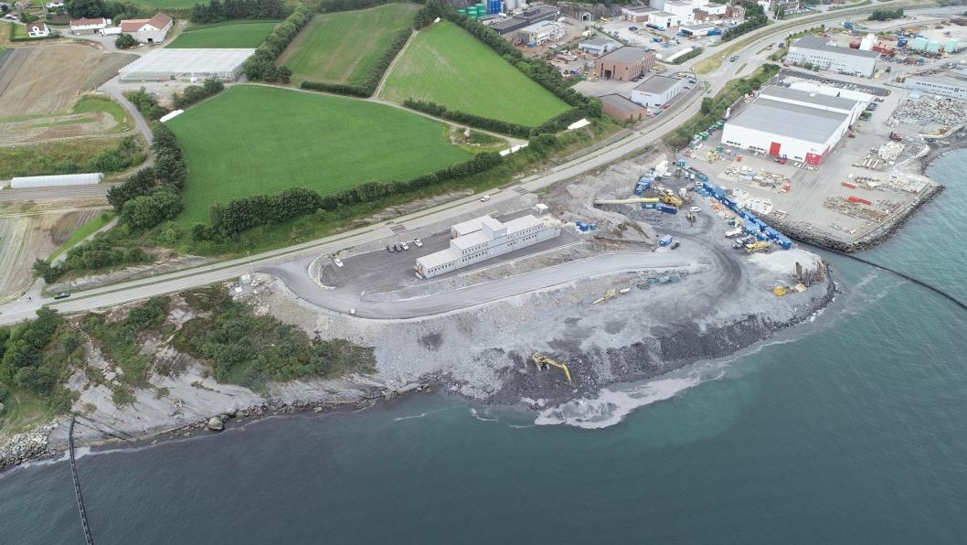 Bildet viser anleggsområdet i Mekjarvik.