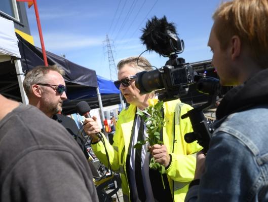SHOW: Alex Rosén var leid inn for å holde show og skape stemning.