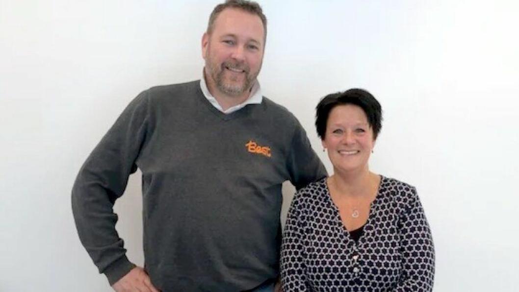 Kim Foss (daglig leder i Best Transport i Oslo) og Hege Sofie M. Normann (daglig leder i Pilotene Transport AS.