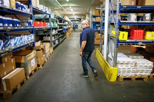 PLASSKREVENDE: Truck & Trailer har behov for store arealer ved sitt hovedlager. I løpet av første kvartal 2020 flytter bedriften til nye og større lokaler på Langhus.