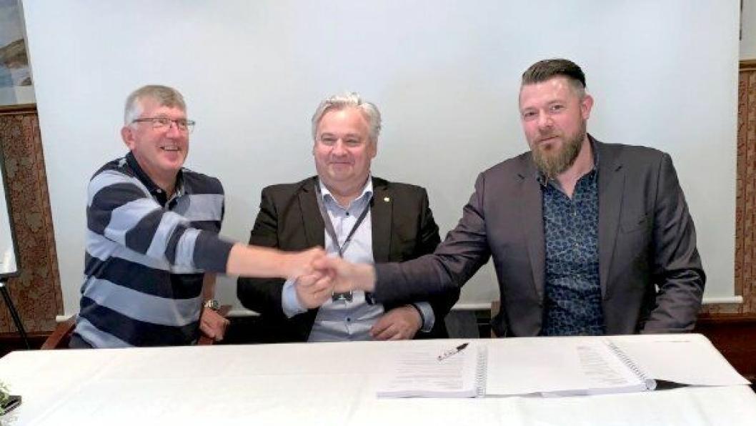 Fra venstre: Vidar Ose (VAF), Kjell Inge Davik (SVV) og Krister Tofteberg (PV).