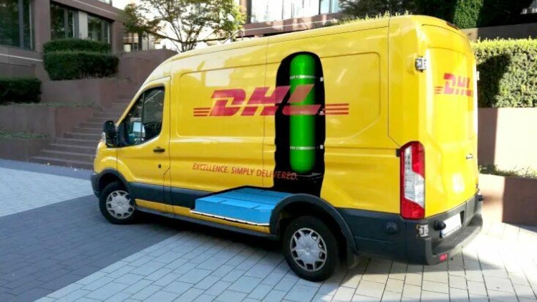 DHL lager 100 slike hydrogenelektriske varebiler til seg selv, i samarbeid med Ford.
