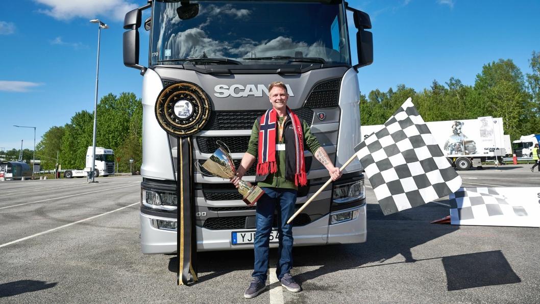 Norges representant Andreas Nordsjø vant Scania Driver Competitions 2019 i slutten av mai i Sverige. Premien var 100.000 euro å bruke på ny Scania-lastebil.