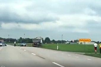 Scania: - Ingen feil på den løpske trekkvogna