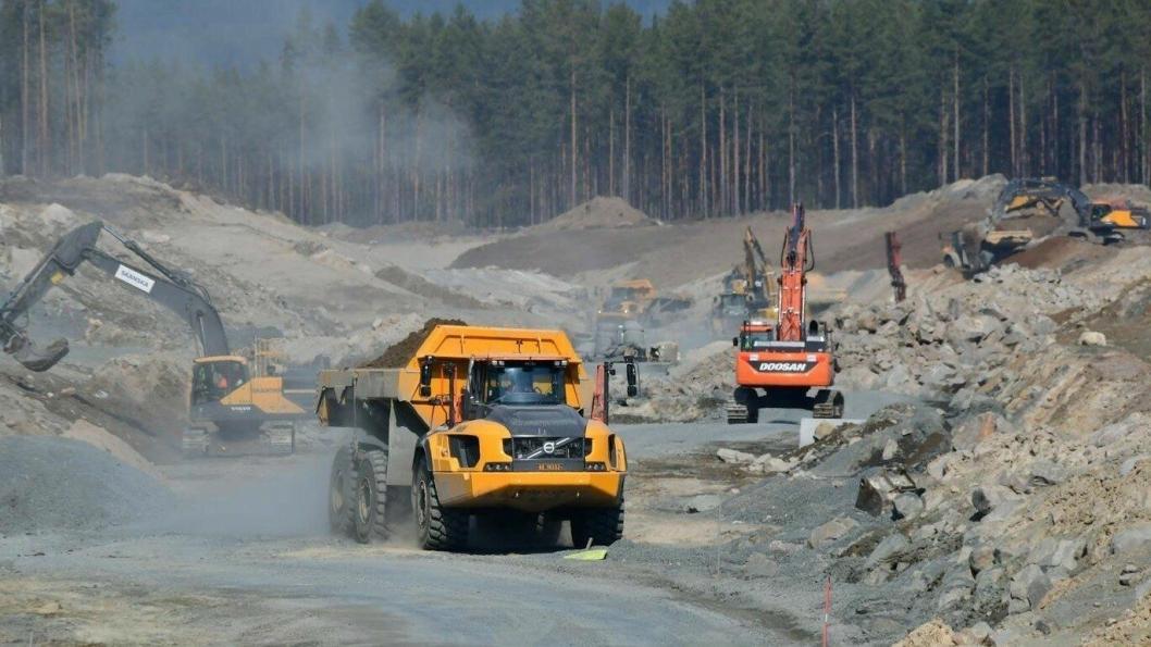 SKADEFRITT: Ingen av de som jobber på Rv. 3/Rv. 25-prosjektet fra Løten til Rena har skadet seg slik at de ble borte fra jobben.