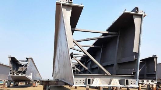 De største brusegmentene er rundt 150 meter lange.