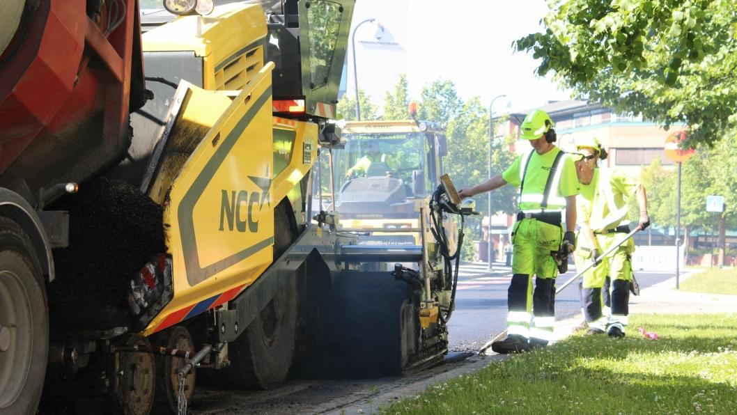 NCC skal asfaltere i Trondheim og Klæbu.