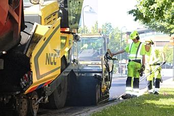 NCC asfalterer for Trondheim og Klæbu