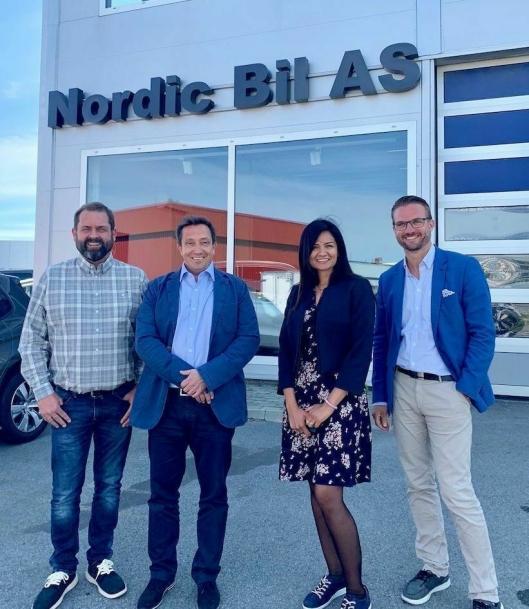Nordic Bil: Knut Øivind Andersen, Espen Kristoffersen, Munazza Sahota og Espen Strømme
