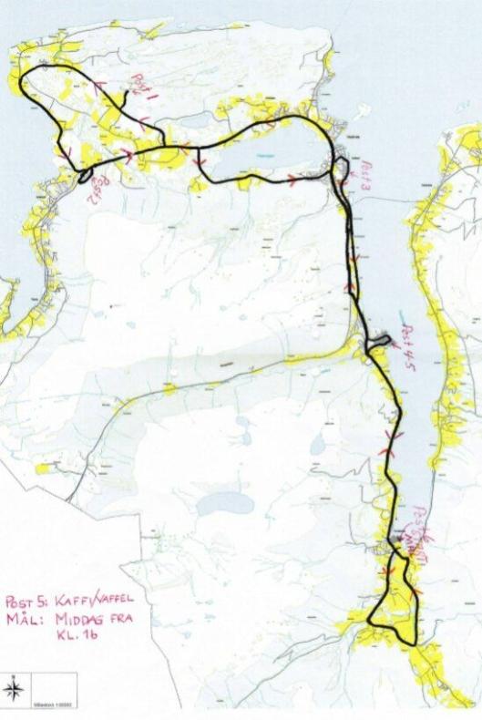 Kjøreruta på løpet som starter 29. juni klokken 11.