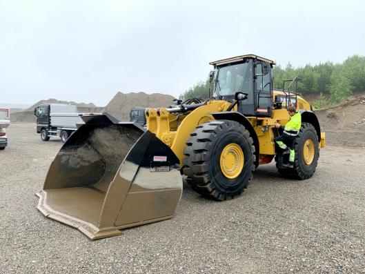 OPPGRADERT: Cat lanserer nytt sete på sine hjullastere fra ca. 15 til 35 tonn.