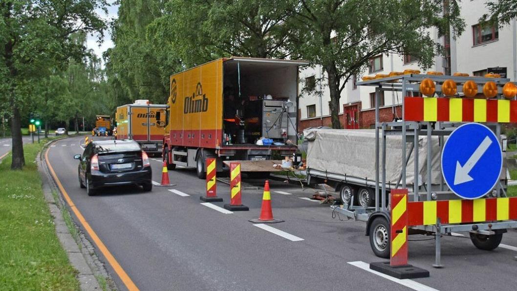 Gravefri rehabilitering stanser ikke trafikken.