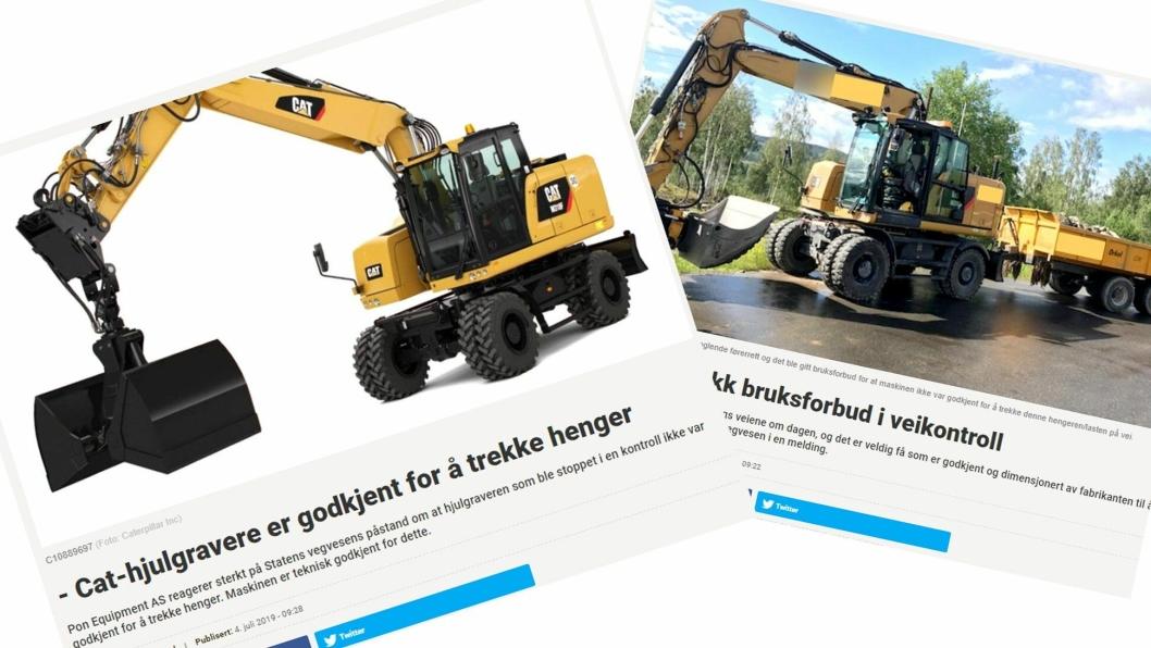 Digitale faksimiler fra AT.no, i forbindelse med at en hjulgraver ble ilagt bruksforbud i juni 2019. Les saken under.