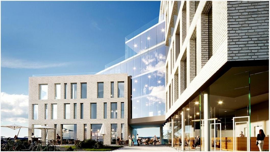 Det første nybygget i Arendals nye bydel Fløybyen skal blant andre huse Fylkesmannen i Agder.