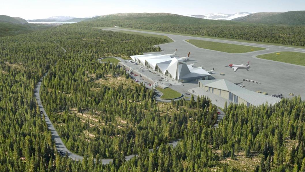 Totalentreprisen inkluderer bygging av lang rullebane, terminal- og driftsbygg, tekniske anlegg, veier og annen infrastruktur i Mo i Rana i Nordland.