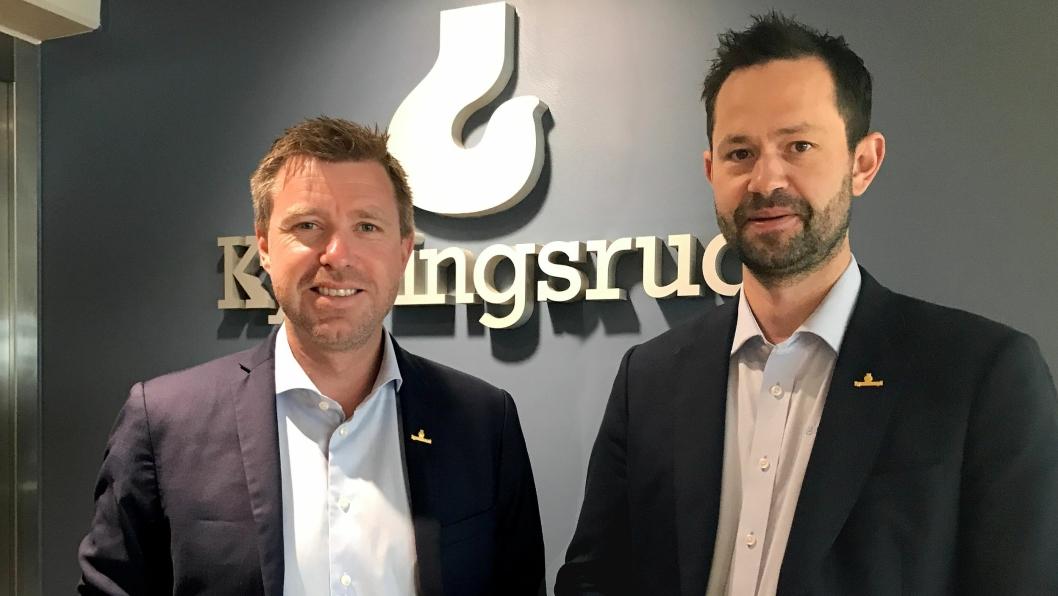 Konsernsjef og styreformann Pål Kynningsrud (t.v) og daglig leder Morten Heli-Hansen gleder seg over kjøpet av WBM Hyrkraner.