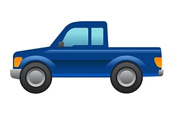 Ford tegnet pickup-emoji