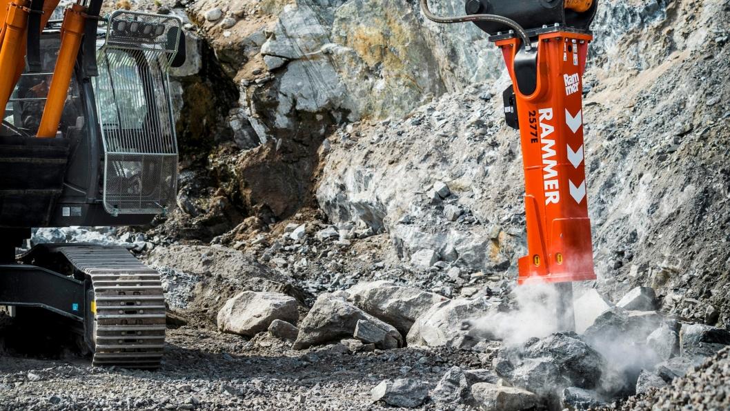 Rammers nye serie hydrauliske slaghammere har mange forbedringer.