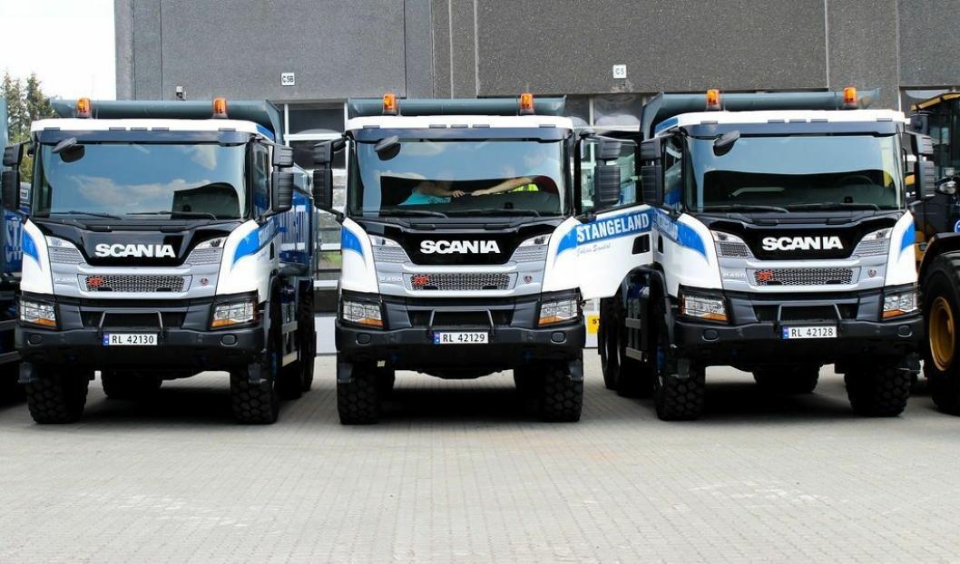 SCANIA: Seks nye Scania 6x6 anleggsbiler er med i nyinvesteringene. Foto: Stangeland