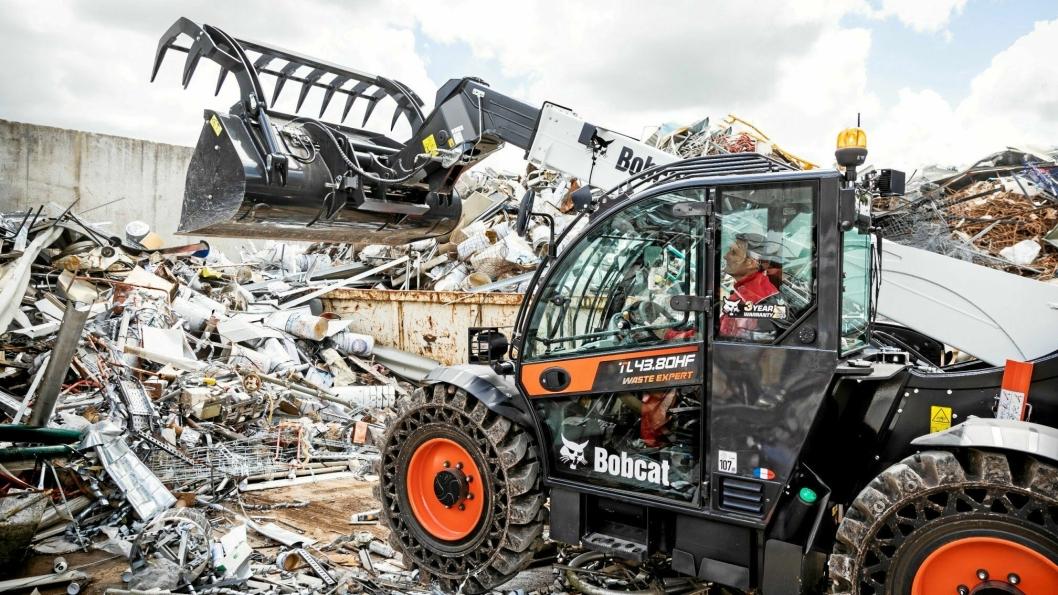 NY SERIE: Waste Expert er Bobcats nye produktnavn på den nye serien teleskoplastere som nå er klar for markedet.