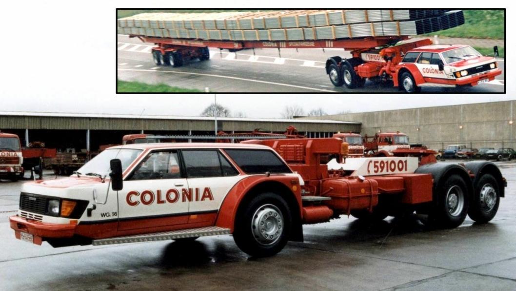 Et Ford Granada-karosseri (med Mercedes-Benz 207D snute) på et MAN-chassis, ble løsningen da tyske Colonia Spezialfahrzeuge skulle lage et kjøretøy som passet til transporten selskapet hadde av lange aluminiumsprofiler på slitten av 1900-tallet.