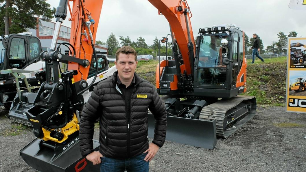 NY SJEF: Tor Anders Høgaas begynner som daglig leder I Rosendal Maskin senest 1. desember 2019. Han har tidligere jobbet i firmaet, blant annet da dette bildet ble tatt på Våler i Østfold i august 2016.