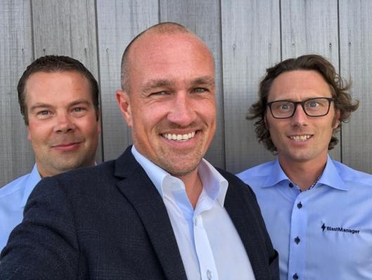 BlastManager-teamet er godt fornøyde med å ha blitt kjøpt opp av Infobric. Fra venstre: Jarle Reger, Martin Ryde og Tomas Skøie.