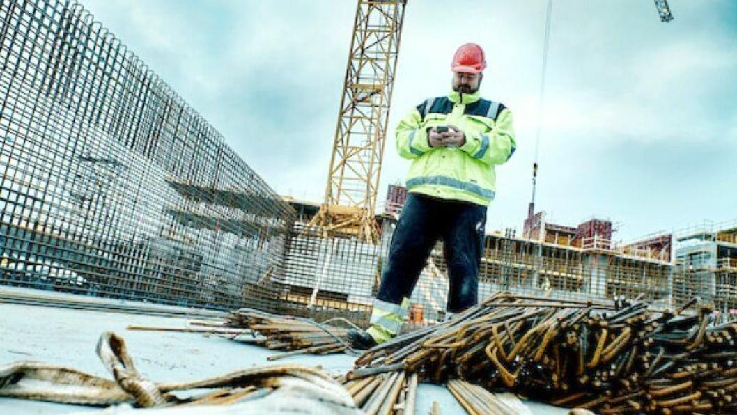 Abax Worker i bruk på byggeplassen.