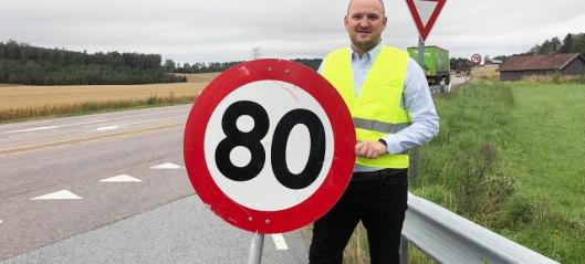 Foreslår høyere fartsgrense på flere strekninger
