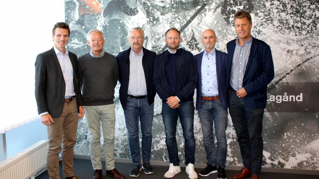 Fra venstre: Hans Fredrik Wittusen, Oddvar Strand, Olav Tenden, Per Ole Tenden, Stig Aamelfot, Egil Lorentzen.