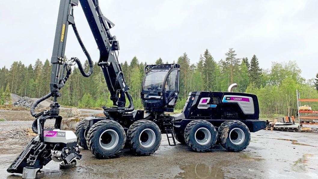 Nye 8H GTE Hybrid (23 tonn) er Logsets andre hybride hogstmaskin-modell.