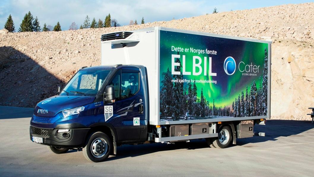 Iveco Daily er en av elbilene på markedet som kan benytte seg av muligheten til å kjøre med 4250 kg totalvekt med B-førerkort som kompensasjon for økt egenvekt.