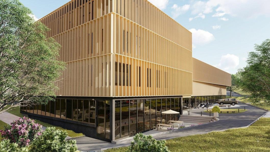 Bygget, som får navnetFantoftparken, skal se slik ut når det står ferdig i Bergen.