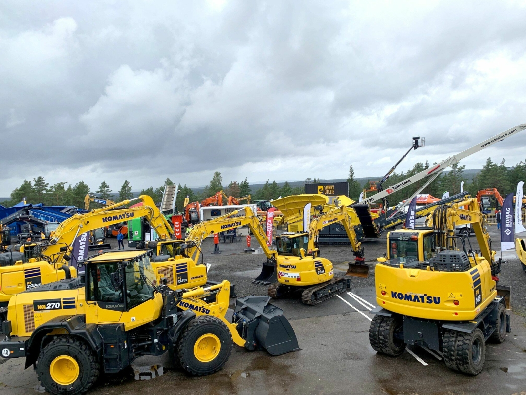 UTSTILLING: Maskiner utstilt på Våler i Østfold.