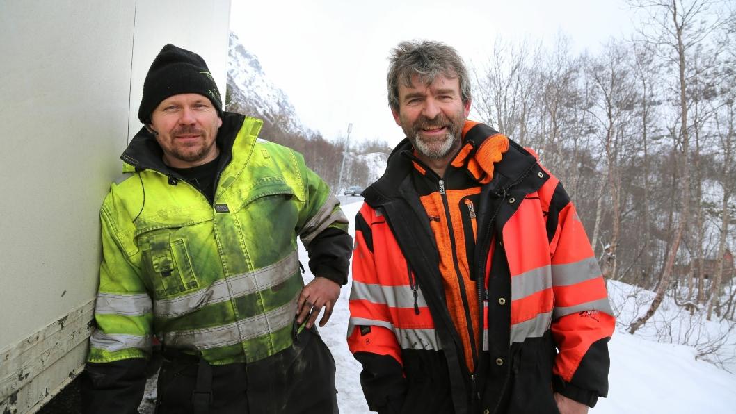 Thord og Bjørn på felles oppdrag. «Vinterveiens helter» sesong 4 har premiere torsdag 3. oktober kl. 22.00 på National Geographic.