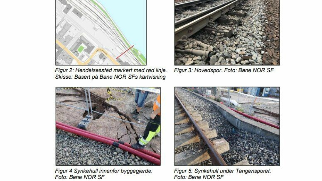 Bildekollasj av bilder fra SHTs rapport.