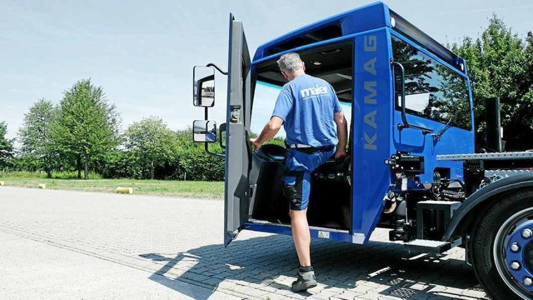 SENKET: Lav innstegshøyde gjør arbeidshverdagen for sjåførene langt mindre besværlig.