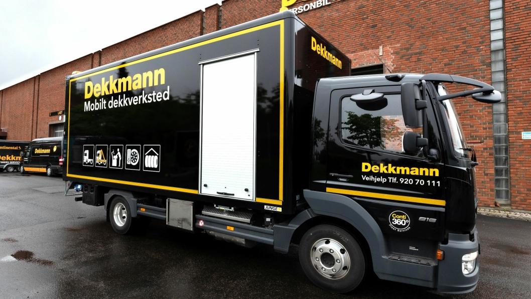 Det nye konseptet til Dekkmann er laget primært for proffkunder som for eksempel lastebileiere og anleggsentreprenører.