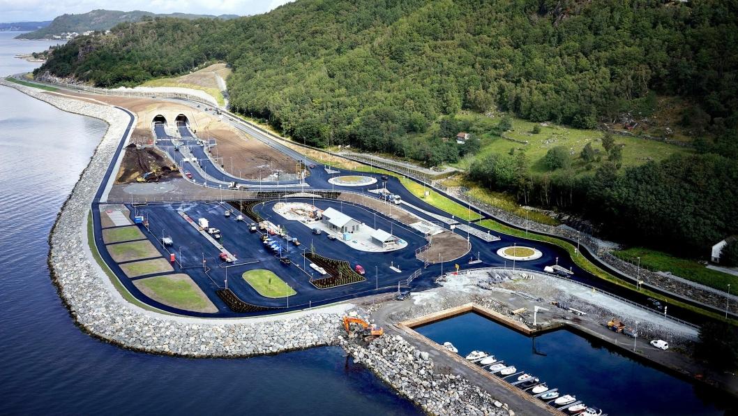 Slik ser den nye terminalen på Solbakk ut.