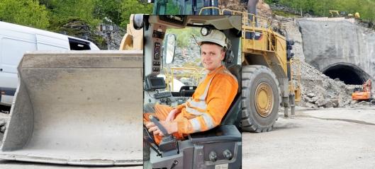 Eskil kjører 65-tonns tunnellaster med én hånd