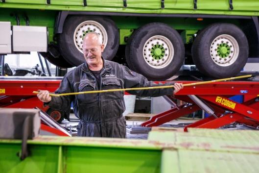 VETERAN: Teknisk sjef Hans Petter Dalen ved Bring Warehousing.