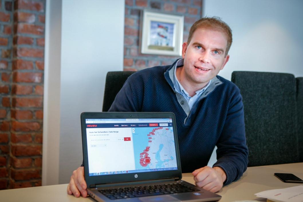 OFFENSIV: Ansvarlig for Isuzu i Norge, Steinar Dokken, ser lyst på Isuzu-fremtiden.