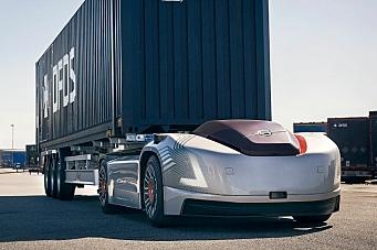 Autonom elektrisk lastebil til Norge